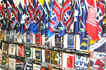 Sports flags, sports banners