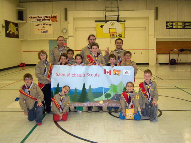Banner for Saint Michaels Scouts